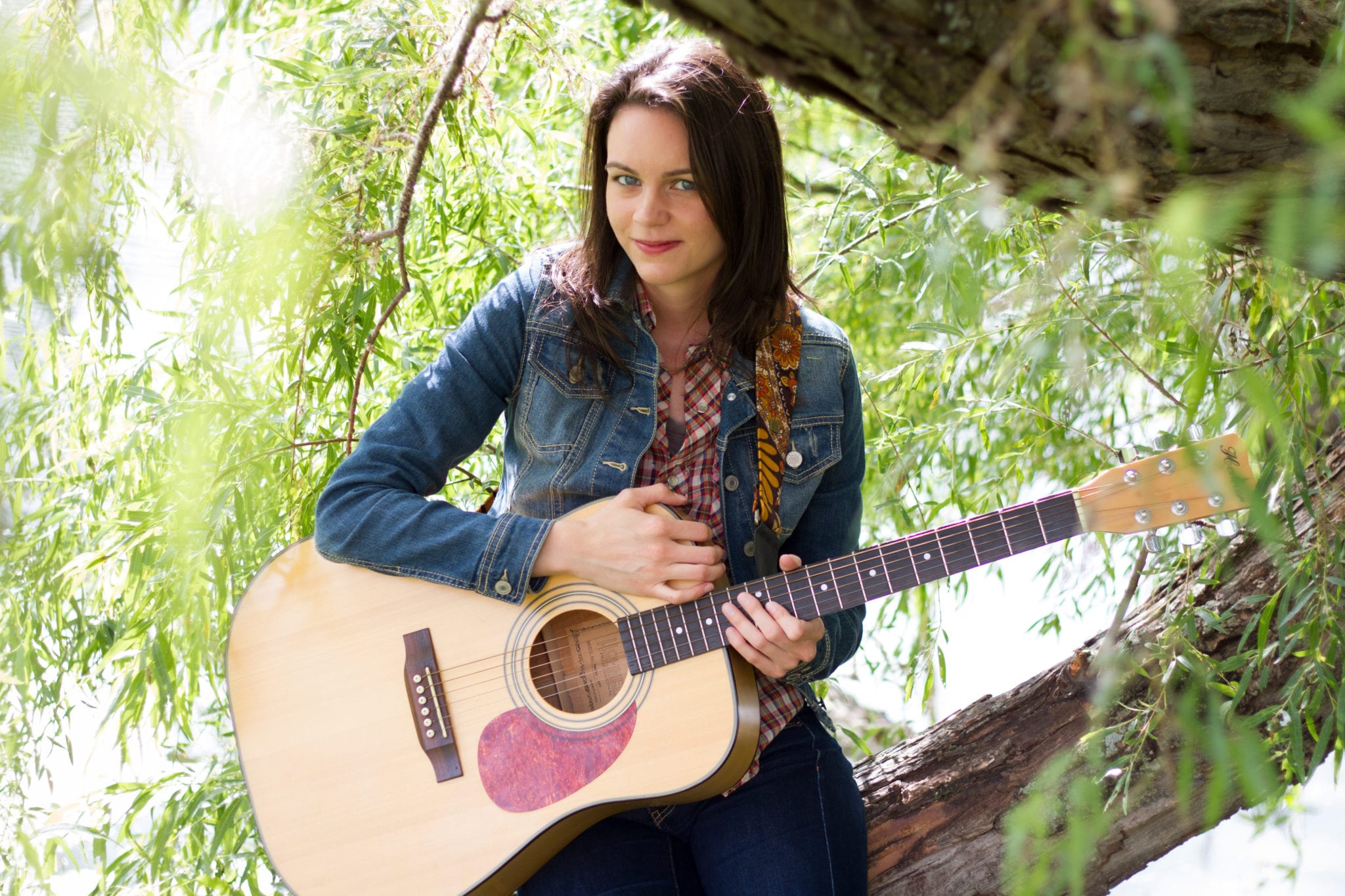 amy goloby left unsaid photo shoot sitting in willow tree