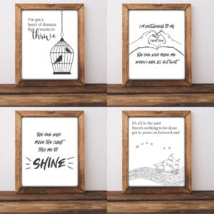 amy goloby lyric prints